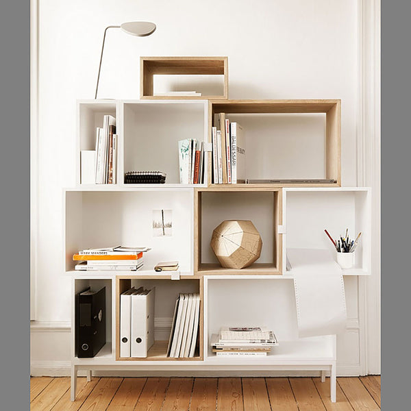 Stacked Storage System - Medium - White - Open
