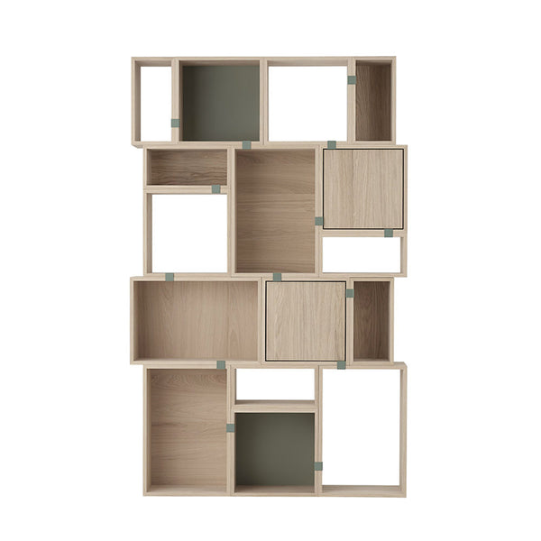Stacked Storage System - Large - Oak - Open