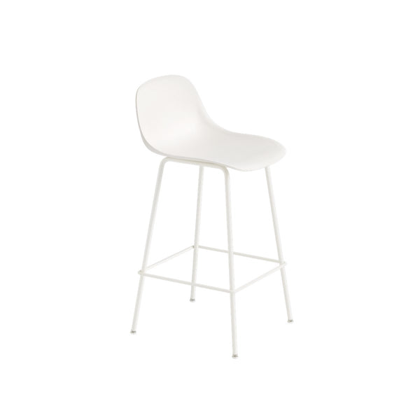 Fiber Bar Stool Tube H65 White/White