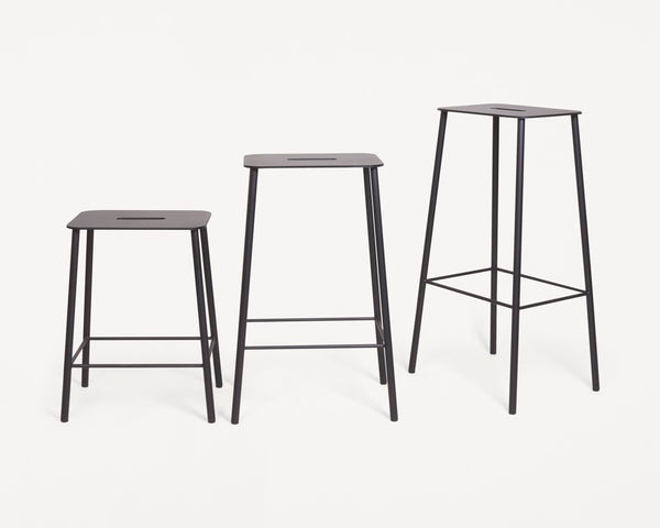 Adam Stool Mono | Black | H65