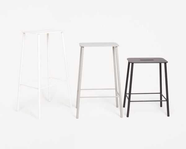 Adam Stool Mono | White | H76