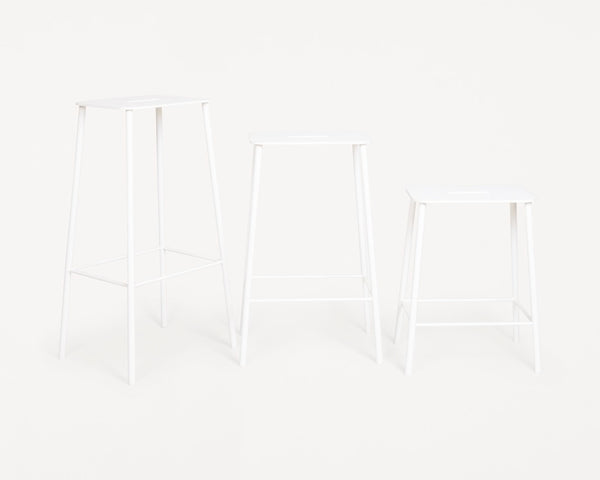 Adam Stool Mono | White | H65
