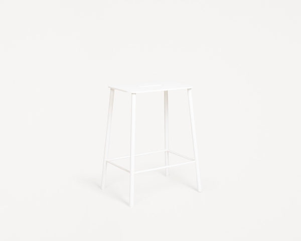 Adam Stool Mono | White | H50
