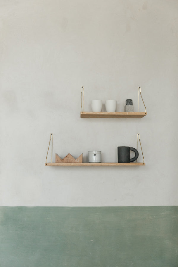 Shelf D27 W80 Brass