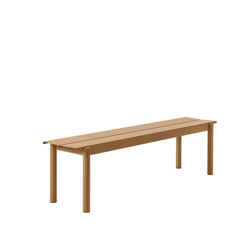 LINEAR STEEL BENCH / 170CM  - Burnt Orange