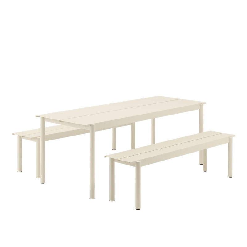 "LINEAR STEEL TABLE / 200X75CM / 78.7X29.5"" - White"