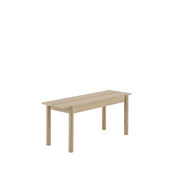 LINEAR WOOD BENCH / 110 X 34 CM  - Oak