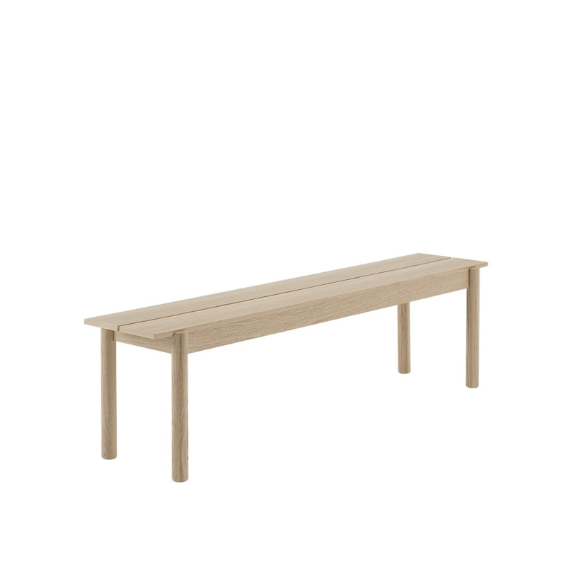 LINEAR WOOD BENCH / 170 X 34 CM  - Oak