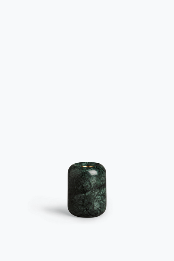 Balance Candle Holder - Indian Green Marble. Medium
