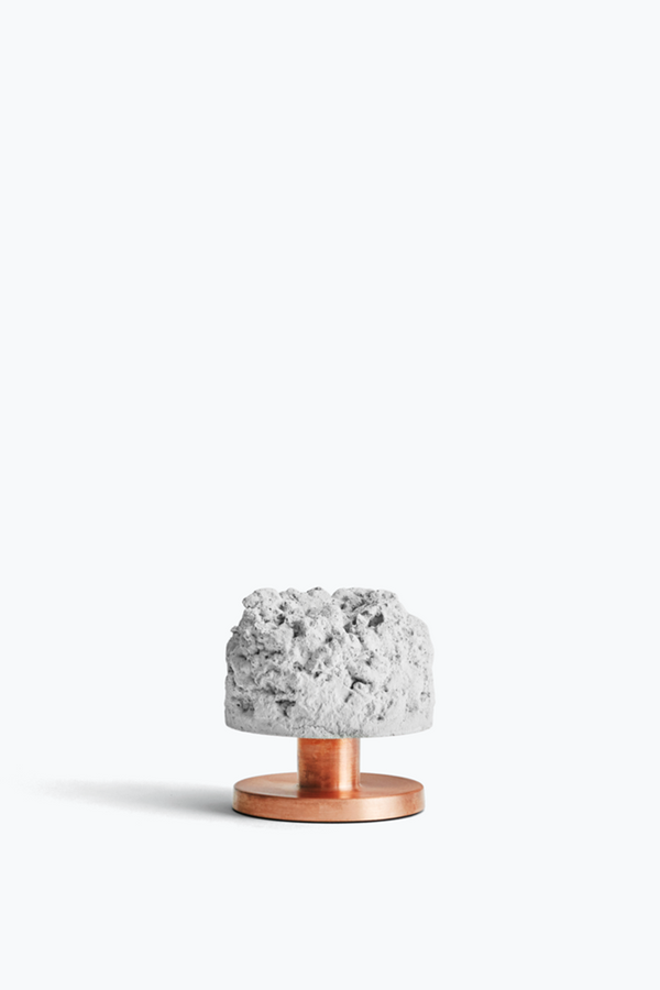 Crowd Candle Holder - Rough Billy. Concrete w. Copper Base