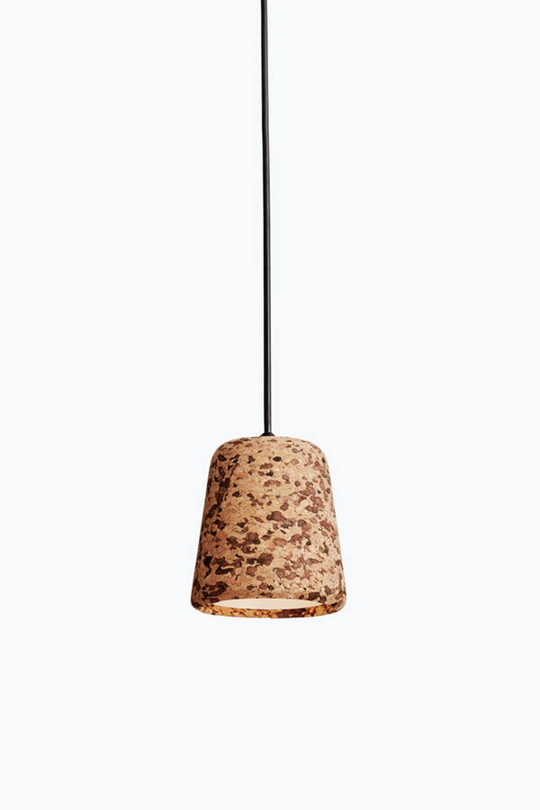 Material Pendant w. Black Fitting - Mixed Cork - Mixed Cork