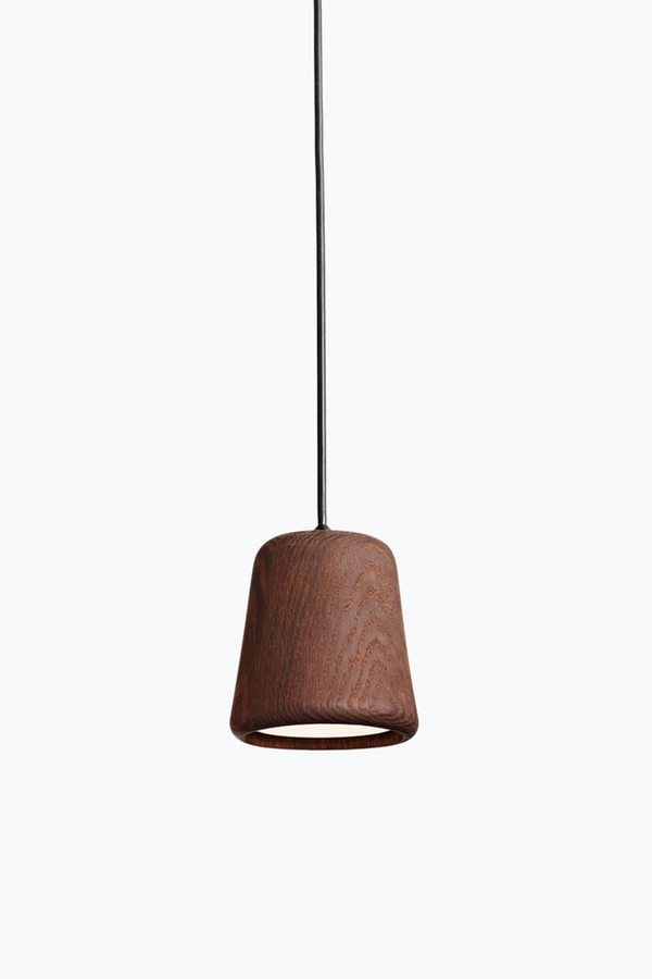 Material Pendant w. Black Fitting - Smoked Oak - Smoked Oak