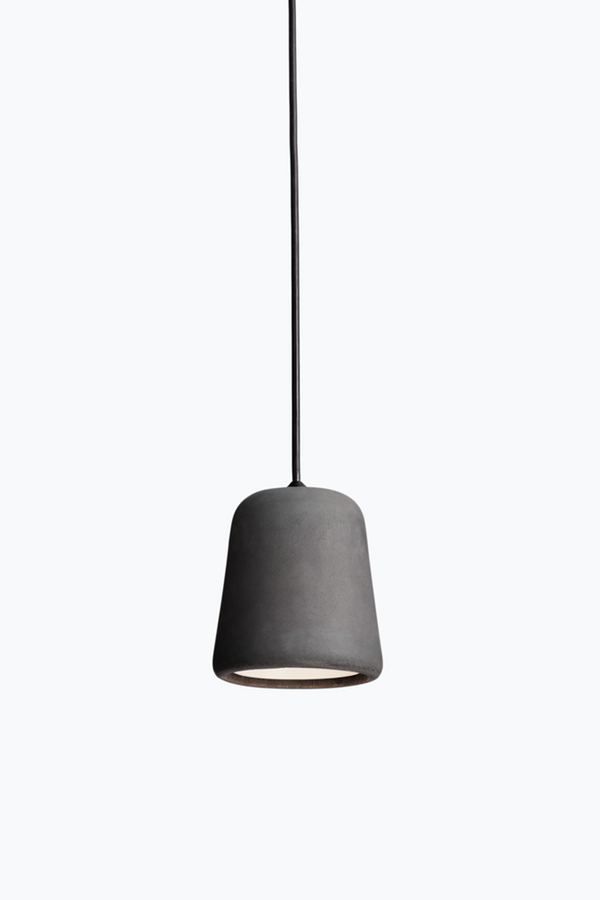 Material Pendant w. Black Fitting - Dark Grey Concrete - Dark Grey Concrete