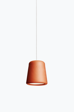 Material Pendant w. White Fitting - Terracotta