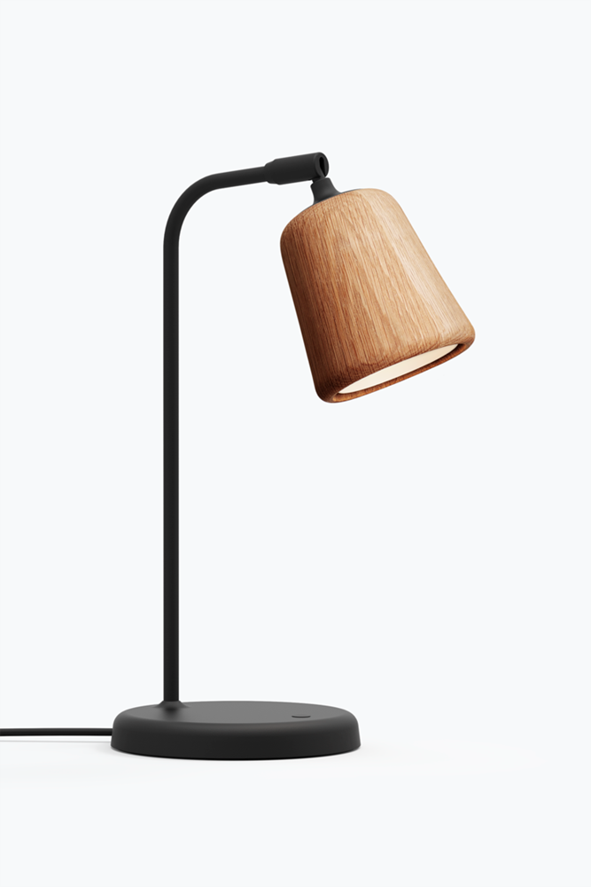 Material Table Lamp - Natural Oak
