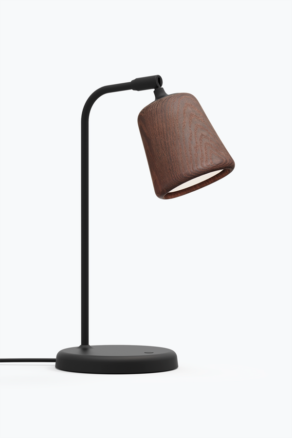 Material Table Lamp - Smoked Oak
