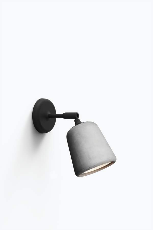 Material Wall Lamp - Light Grey Concrete