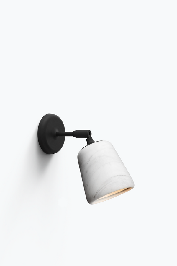 Material Wall Lamp - White Marble