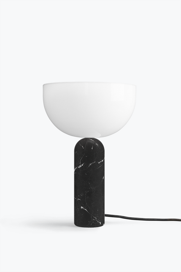 Kizu Table Lamp. Large - Black Marble w. White Acrylic