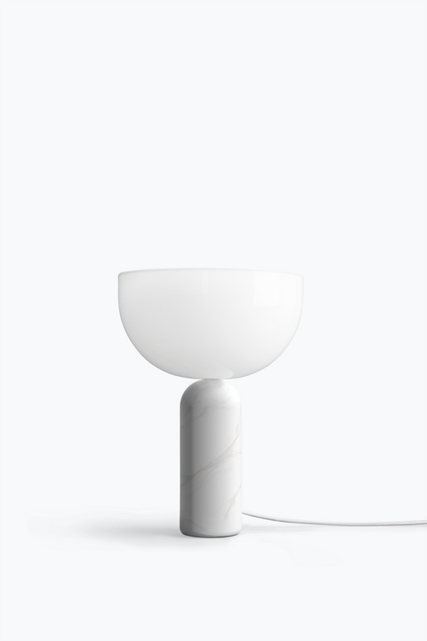 Kizu Table Lamp. Small - White Marble w. White Acrylic