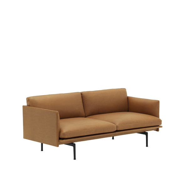 Outline - 2 Seater - Silk Leather/Cognac