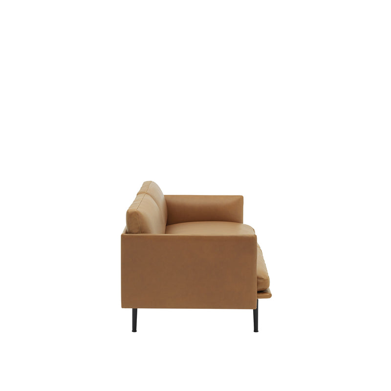Outline 3 Seater - Cognac Leather