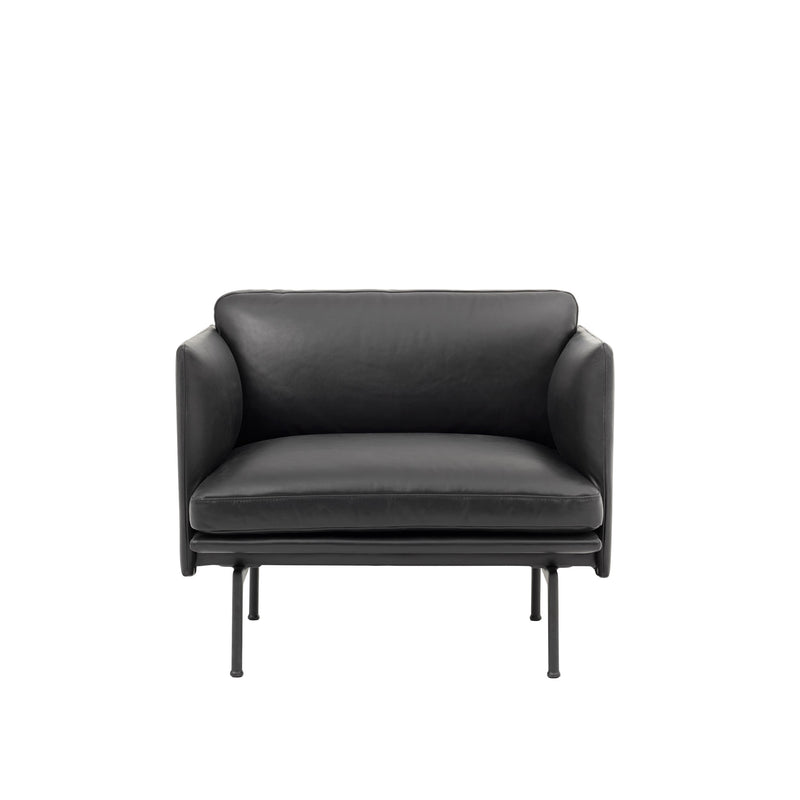 Outline Chair - Silk leather/ Black