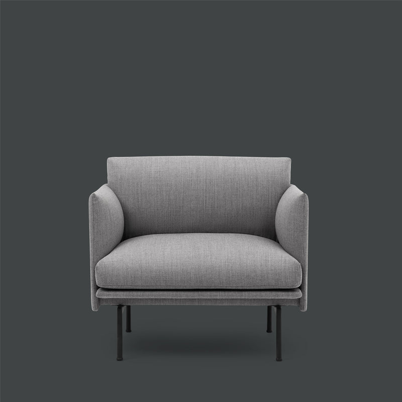 Outline - Chair  - Fiord 151 - Light Grey