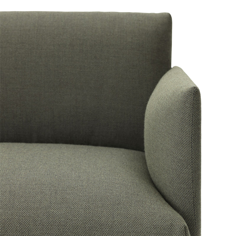 Outline Sofa 2 Seater - Fiord 961 - Dark Green