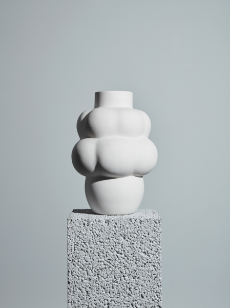 Ceramic Balloon Vase Raw White