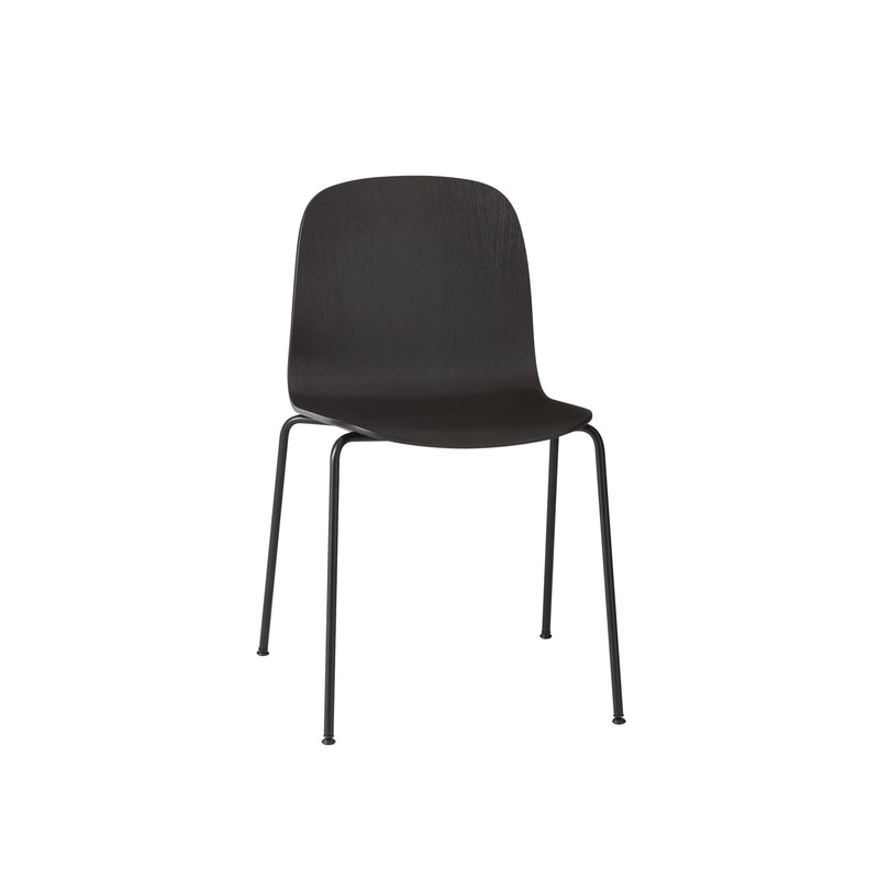 Visu Chair - Tube Base - Black/Black