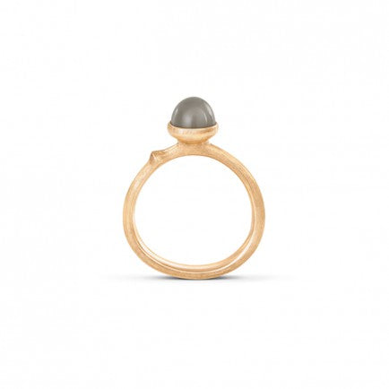 Lotus - 18 karat gold - Grey Moonstone