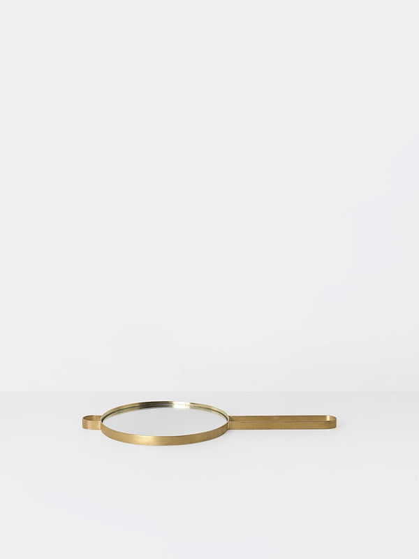 Poise Hand Mirror - Brass