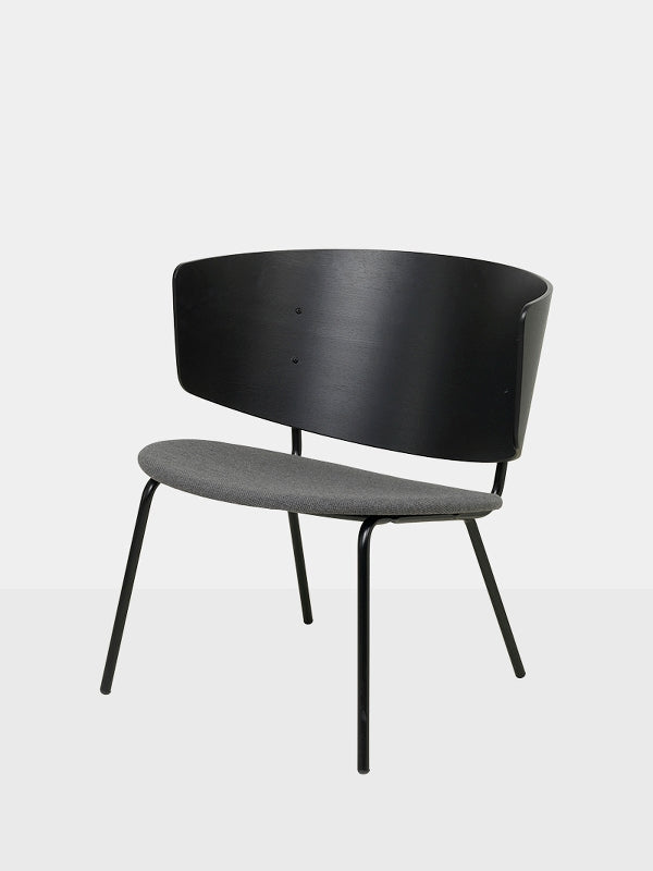 Herman Lounge Chair - Black/Dark Grey