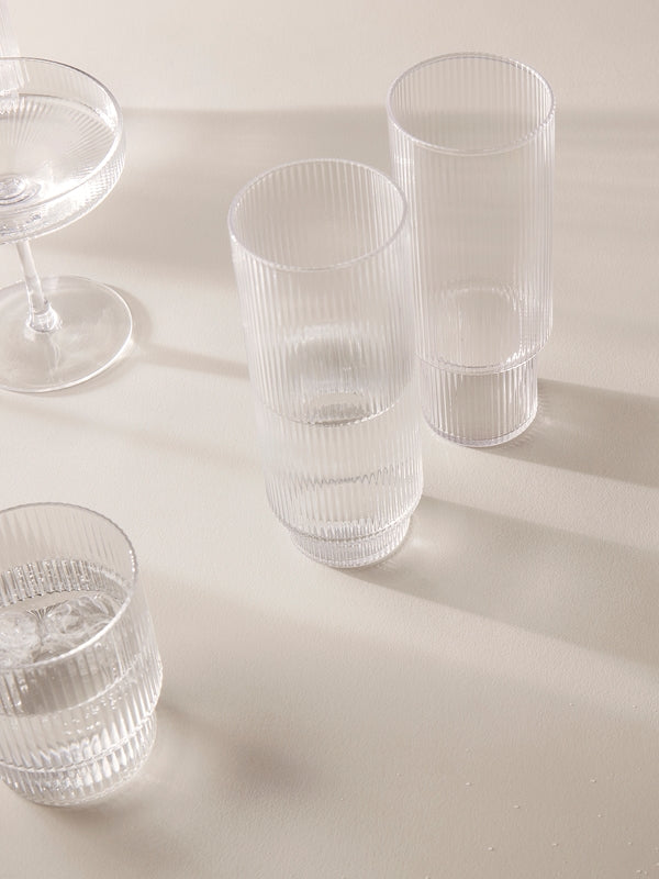 Ripple Long Drink Glasses (set of 4)