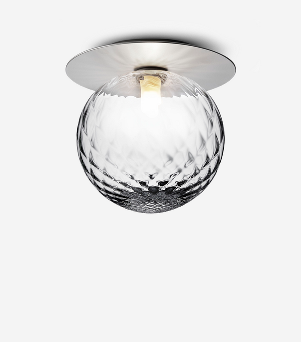 Liila 1 Large Wall/Ceiling Silver Clear