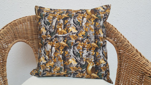 Deers hiding in forest cushions