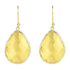 Voudra Moda-LATELITA LONDON Gold Single Drop Earring Citrine Hydro-LATELITA LONDON