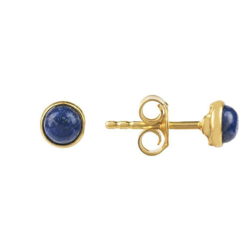 Voudra Moda-LATELITA LONDON Petite Stud Gold Lapis Lazuli-LATELITA LONDON