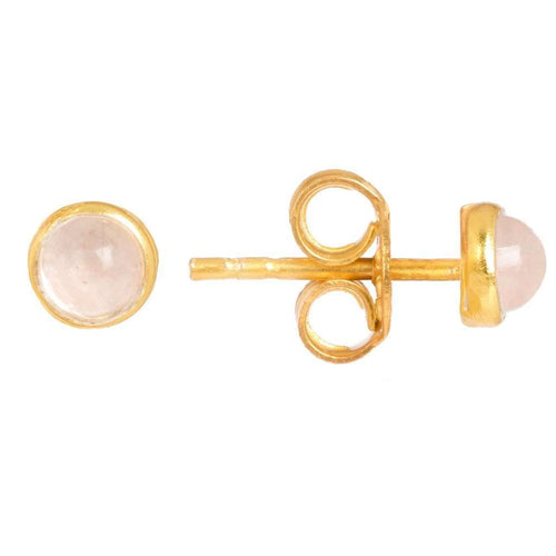 Voudra Moda-LATELITA LONDON Petite Stud Gold Rose Quartz-LATELITA LONDON