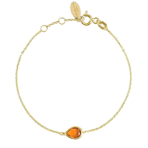 Voudra Moda-LATELITA LONDON Pisa Mini Teardrop Bracelet Gold Citrine-LATELITA LONDON