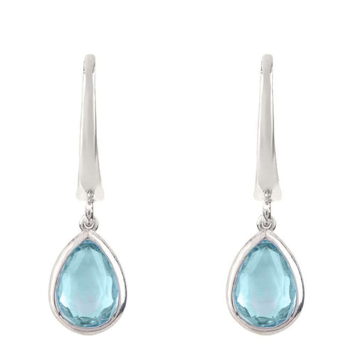 Voudra Moda-LATELITA LONDON Pisa Mini Teardrop Earring Silver Blue Topaz-LATELITA LONDON