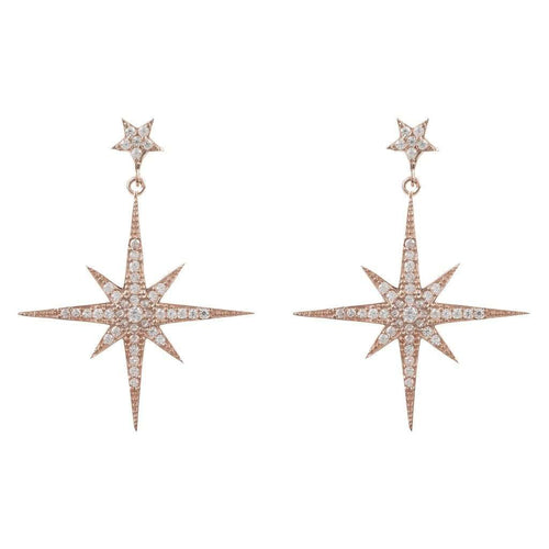 Voudra Moda-LATELITA LONDON Star burst Drop Earring Rosegold-LATELITA LONDON