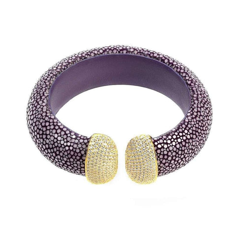 Voudra Moda-LATELITA LONDON Stingray Cuff Gold - Plum (White)-LATELITA LONDON