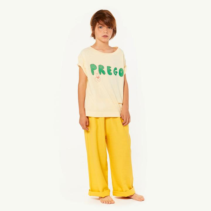 ROOSTER KIDS T-SHIRT, YELLOW PREGO
