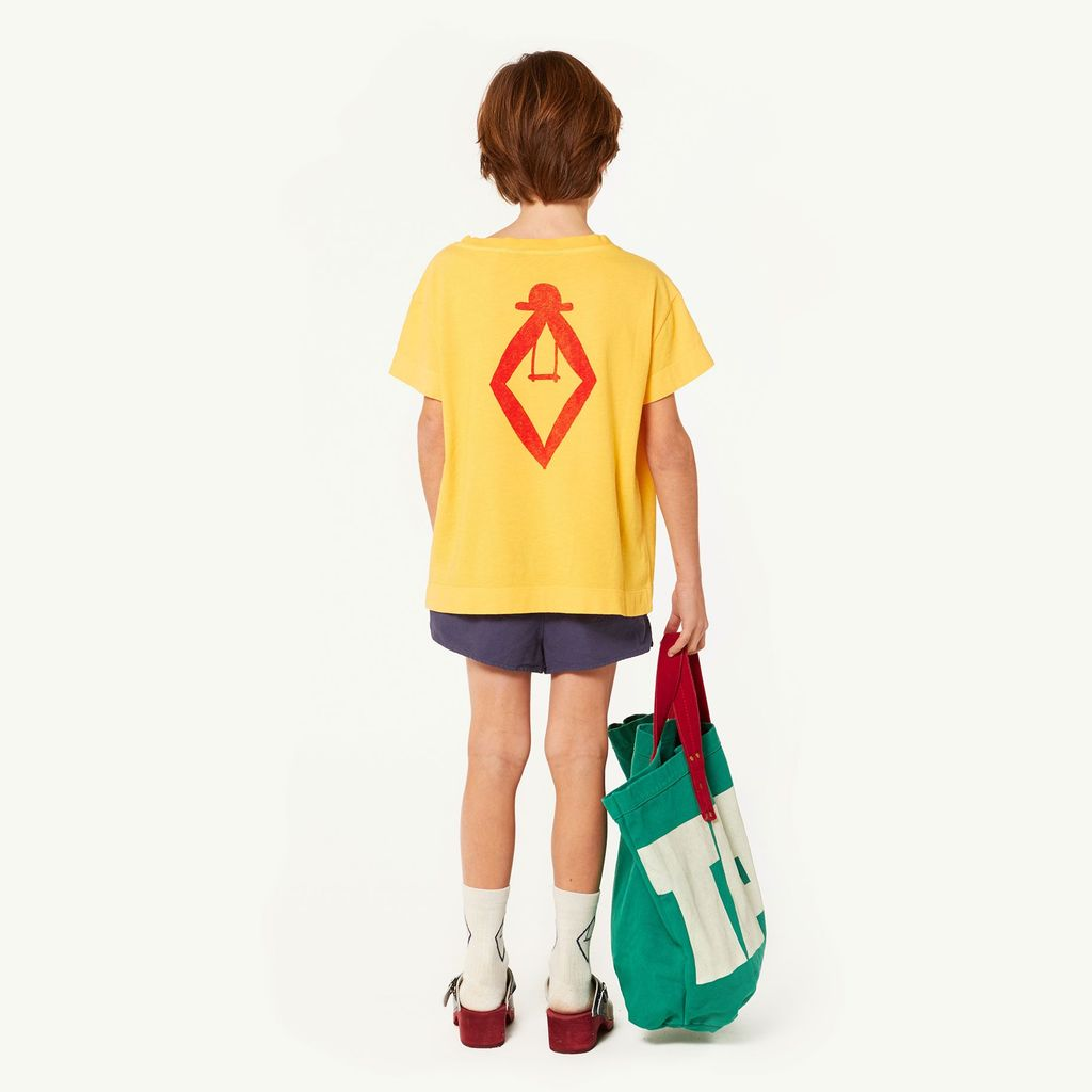 ROOSTER KIDS T-SHIRT, YELLOW TAO