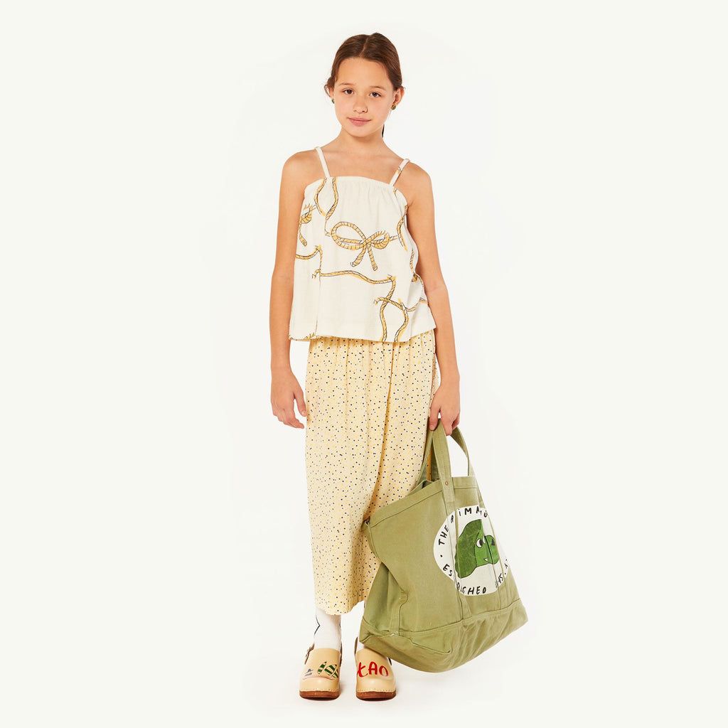 STORK KIDS TOP, RAW WHITE ROPES - Cemarose Children's Fashion Boutique