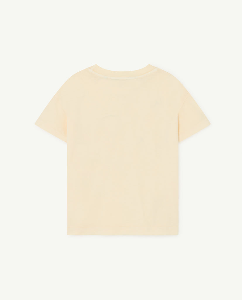 ROOSTER KIDS T-SHIRT, YELLOW OUI