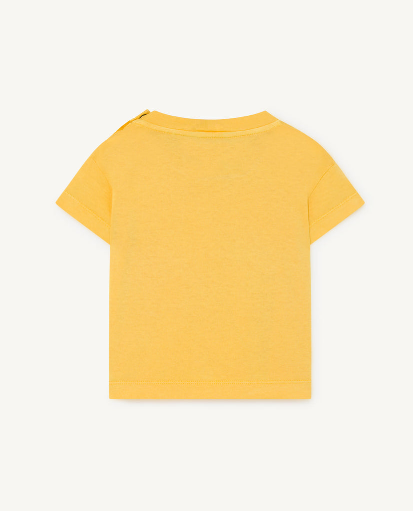 ROOSTER BABY T-SHIRT, YELLOW BIRDS