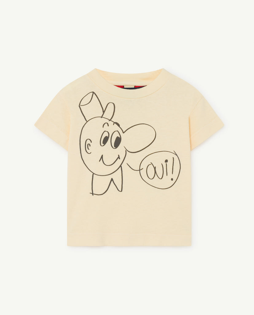 ROOSTER BABY T-SHIRT, YELLOW OUI - Cemarose Children's Fashion Boutique